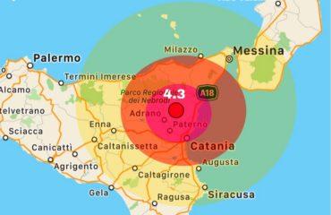 Terremoto Musumeci Catania