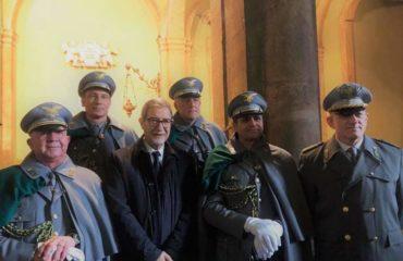 Con le guardie del Corpo Forestale