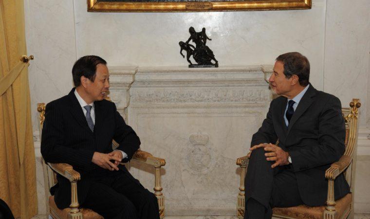 Musumeci con ambasciatore cinese